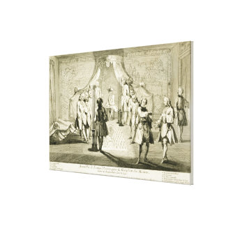 Assembly of Free Masons for the Initiation of a Ma Canvas Prints