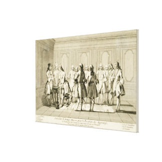 Assembly of Free Masons to Initiate an Apprentice, Stretched Canvas Prints