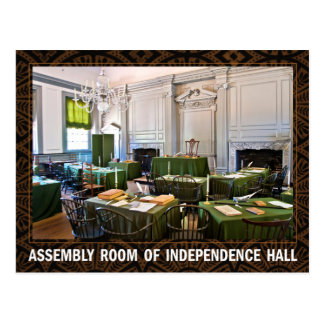 Assembly Room of Independence Hall Postcard