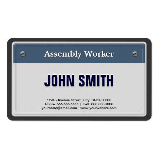 Assembly Worker Cool Car License Plate Pack Of Standard Business Cards