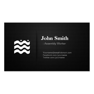 Assembly Worker - Premium Changeable Icon Pack Of Standard Business Cards