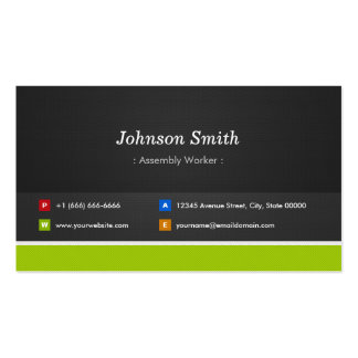 Assembly Worker - Professional and Premium Pack Of Standard Business Cards