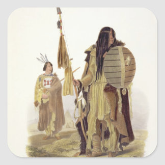 Assiniboin Indians, plate 32 from volume 2 of 'Tra Square Sticker