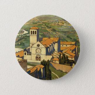 Assisi 6 Cm Round Badge