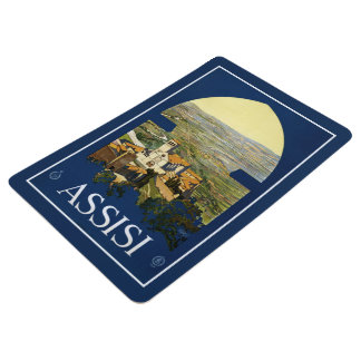 Assisi Italy vintage travel floor mat