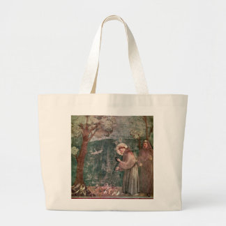Assisi, St Francis and the birds Tote Bags