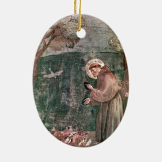 Assisi, St Francis and the birds Ceramic Oval Decoration