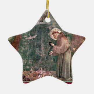 Assisi, St Francis and the birds Ceramic Star Decoration