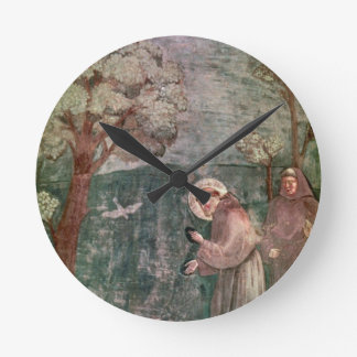 Assisi, St Francis and the birds Round Wallclock