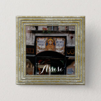 Assisi Umbria Italy 15 Cm Square Badge