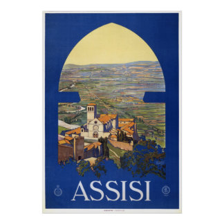 Assisi - Vintage Italian Travel Poster