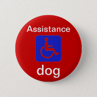 assistance dog with handicapped symbol button