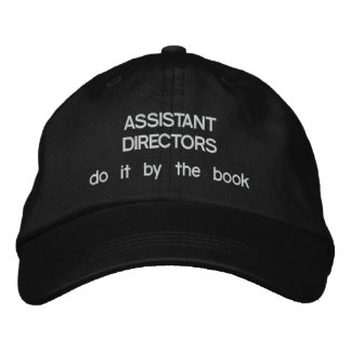 Assistant Directors Do it by the Book Embroidered Cap