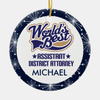 Assistant District Attorney Personalized Ornament