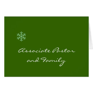 Associate Pastor and Family Snowflake Greeting Cards