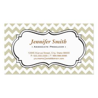 Associate Producer - Chevron Simple Jasmine Pack Of Standard Business Cards