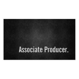 Associate Producer Cool Black Metal Simplicity Pack Of Standard Business Cards