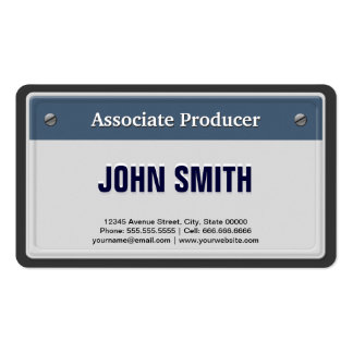 Associate Producer - Cool Car License Plate Double-Sided Standard Business Cards (Pack Of 100)