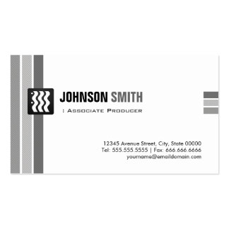 Associate Producer - Creative Black White Pack Of Standard Business Cards