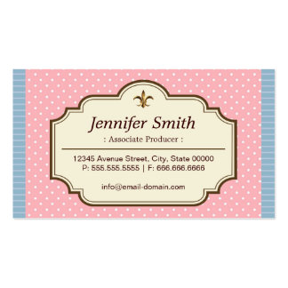 Associate Producer - Cute Polka Dots Pack Of Standard Business Cards