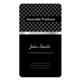 Associate Producer - Elegant Black Chessboard Double-Sided Standard Business Cards (Pack Of 100)