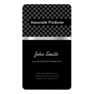 Associate Producer - Elegant Black Chessboard Pack Of Standard Business Cards