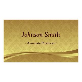 Associate Producer - Elegant Gold Damask Pack Of Standard Business Cards