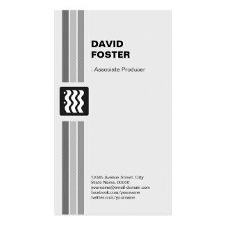 Associate Producer - Modern Black White Pack Of Standard Business Cards