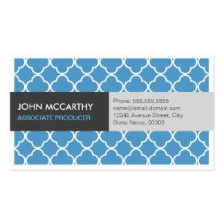 Associate Producer - Modern Blue Quatrefoil Pack Of Standard Business Cards