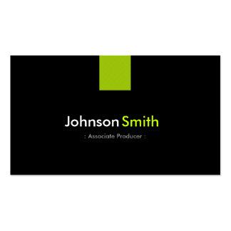 Associate Producer Modern Mint Green Business Card Template
