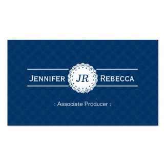 Associate Producer - Modern Monogram Blue Pack Of Standard Business Cards