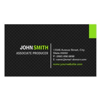 Associate Producer - Modern Twill Grid Pack Of Standard Business Cards