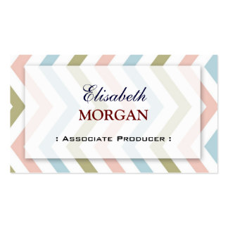 Associate Producer - Natural Graceful Chevron Pack Of Standard Business Cards