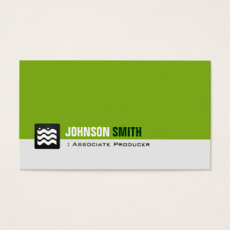 Associate Producer - Organic Green White Business Card