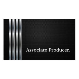 Associate Producer Professional Black Silver Pack Of Standard Business Cards