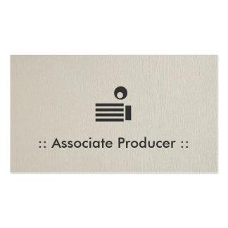 Associate Producer Simple Elegant Professional Pack Of Standard Business Cards