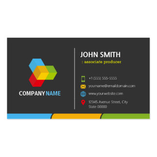 Associate Producer - Stylish Dark Colorful Pack Of Standard Business Cards