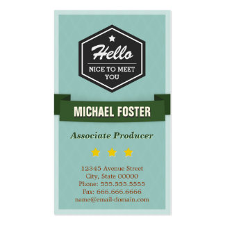 Associate Producer - Vintage Style Hello Business Card Template
