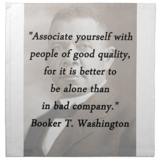 Associate Yourself - Booker T Washington Napkin