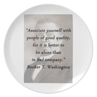 Associate Yourself - Booker T Washington Plate