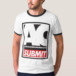Associated Content Submit T-Shirt Black Trim