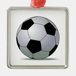 Association Football American Soccer Ball Silver-Colored Square Decoration