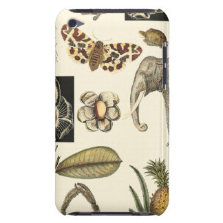 Assorted Animals Painted on Cream Background Barely There iPod Covers