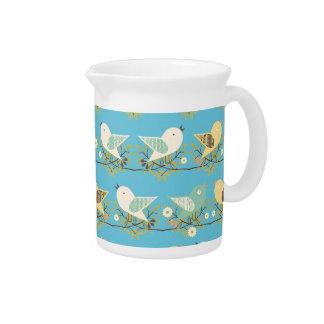 Assorted birds pattern pitcher
