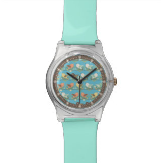 Assorted birds pattern wrist watches
