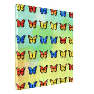 Assorted butterflies pattern canvas print