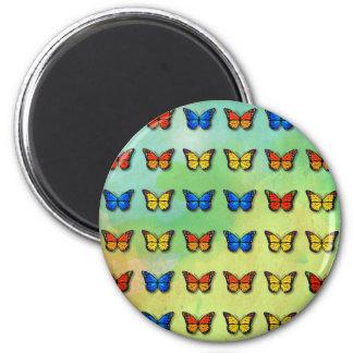 Assorted butterflies pattern magnet