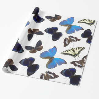 Assorted butterflies wrapping paper