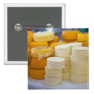 Assorted cheeses 15 cm square badge