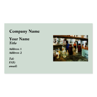 Assorted Chemicals in Bottles Business Card